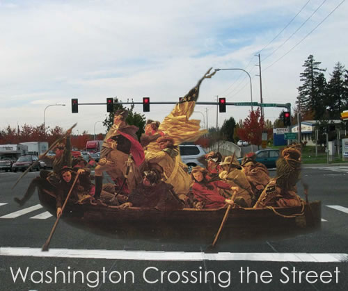 Washington Crossing the Street