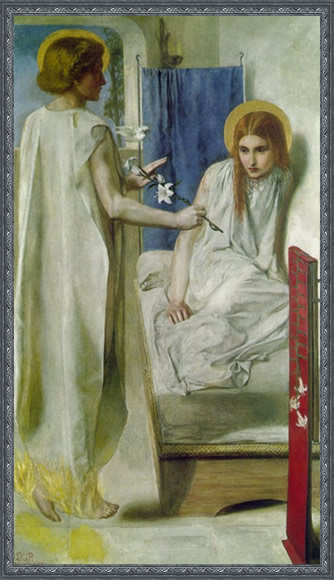 The Annunciation by Dante Gabriel Rosetti